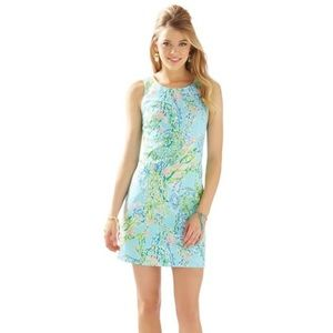 Lily Pulitzer Cathy Shift Dress Sky Blue 12